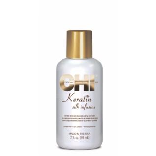 CHI Keratin Silk Infusion Натуральный жидкий шелк для сухих поврежденных волос, 59 мл