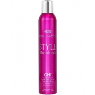 CHI Miss Universe Style Illuminate Rock Your Crown Firm Hair Spray Лак для волос сильной фиксации, 284 г