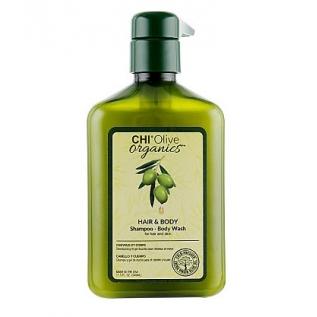 Chi Olive Organics Hair And Body Shampoo Body Wash Шампунь для волос и тела с оливой, 340 мл
