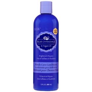 Hask Blue Chamomile with Argan Oil Blonde Care Conditioner Кондиционер с экстрактом голубой ромашки и аргановым маслом для светлых волос, 355 мл