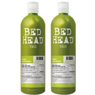 TIGI Bed Head Urban Antidotes Re-Energize Shampoo + Conditioner Укрепляющий набор для нормальных волос: шампунь 750 мл + кондиционер 750 мл