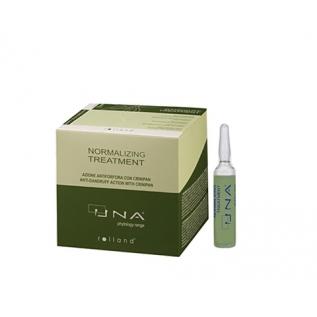 Rolland UNA Normalizing Treatment Комплекс для восстановления жирового баланса кожи головы, 12 ампул