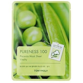Tony Moly Pureness 100 Placenta Mask Sheet Тканевая маска с экстрактом бобов