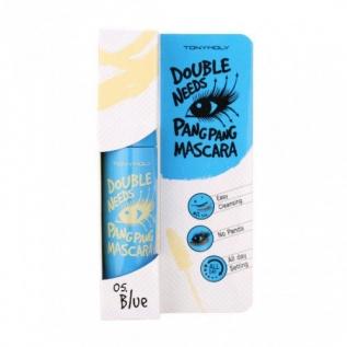 Tony Moly Double Needs Pang Pang Mascara, 05 Blue Удваивающая тушь для ресниц, синяя